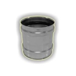 Tronchetto F/F monoparete acciaio inox 316 sp 5/10