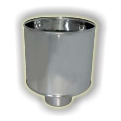 Comignolo antivento monoparete acciaio inox 316 sp 5/10