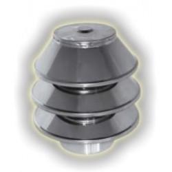 Comignolo torrino monoparete acciaio inox 316 sp 5/10