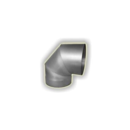 Canna Fumaria Curva 90° - Acciaio Alluminato