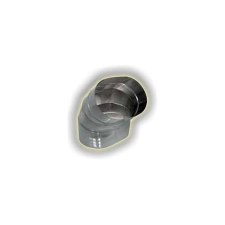 Canna Fumaria Curva Tipo 1 Ovale - Inox 304