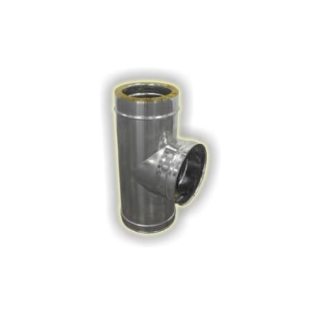 Canna Fumaria Incrocio a T90° Coibentato - Inox
