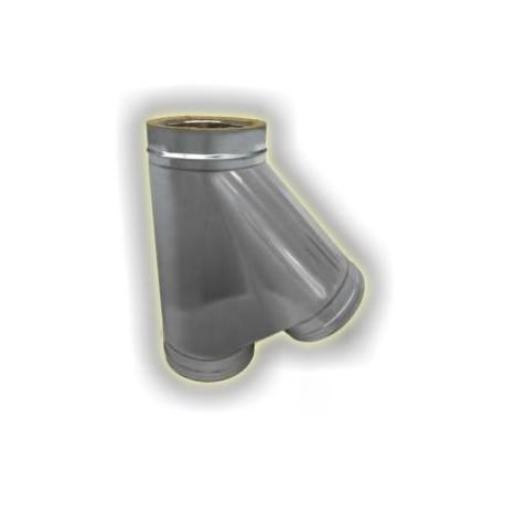 Canna Fumaria Incrocio a T135° Coibentato - Inox