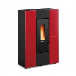 Nordica Extraflame Marilena Plus Stufa a Pellet Slim da 8,0 kW colore Bordeaux