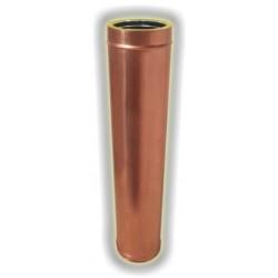 Canna Fumaria Elemento Coibentato 1000 mm - Rame
