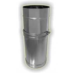 Monoparete acciao inox 304 sp 5-10 - ELEMENTO TELESCOPICO MASCHIO/FEMMINA