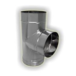 T90° derivazione maschio monoparete acciao inox 304 sp 6-10