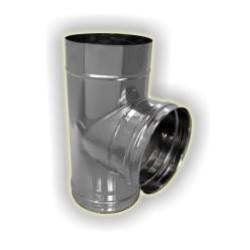 T90° derivazione femmina monoparete acciao inox 304 sp 6-10