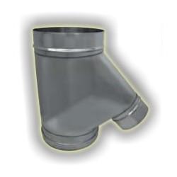 Raccordo camino-forno derivazione maschio monoparete acciao inox 304 sp 6-10