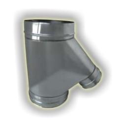 Raccordo camino-forno derivazione femmina monoparete acciao inox 304 sp 6-10