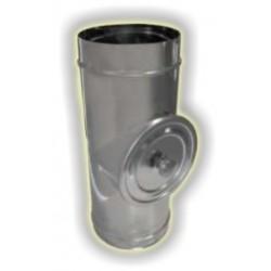 Modulo di ispezione con tappo per alte temperature monoparete acciao inox 304 sp 6-10