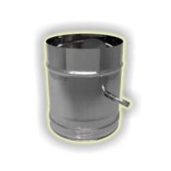 Tubo con valvola monoparete acciao inox 304 sp 6-10