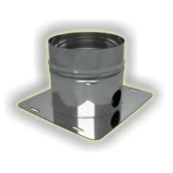 Raccogli condensa scarico laterale maschio monoparete acciao inox 304 sp 5-10