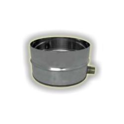 Raccogli condensa cieco con scarico sul fianco maschio monoparete acciao inox 304 sp 5-10