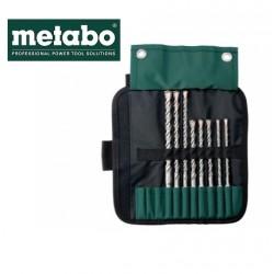 "METABO Custodia Avvolgibile SDS plus ""Pro 4"" 8 Pezzi"