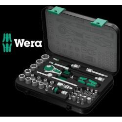 """WERA Kit con Cricchetto Zyklop Speed, Attacco da 1/4"""", Metrico, 42 Pezzi"""