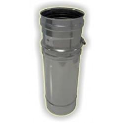 Elemento telescopico M/F  monoparete acciaio inox 316 sp 5/10