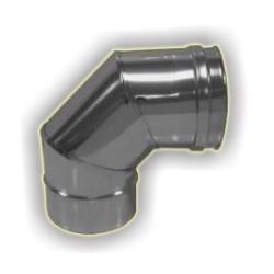 Curva 90° M/F  monoparete acciaio inox 316 sp 5/10