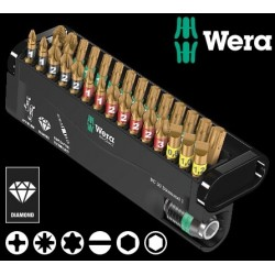 WERA Kit Inserti Mordenti Bit-Check 30 Diamond 1, 30 Pezzi