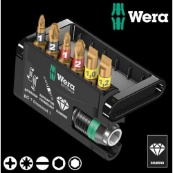 WERA Kit Inserti Mordenti Bit-Check 7 Diamond 1, 7 Pezzi