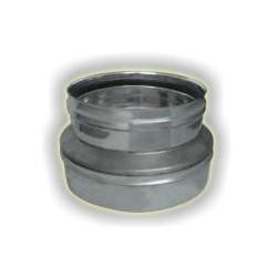 Riduzione F/M  monoparete acciaio inox 316 sp 5/10