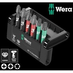 WERA Kit Inserti Bit-Check 6 Impaktor 1, 6 Pezzi