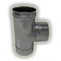 T90° derivazione maschio monoparete acciaio inox 316 sp 5/10