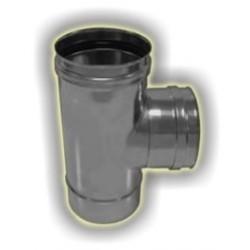 T90° derivazione femmina monoparete acciaio inox 316 sp 5/10