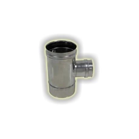 T90° attacco ridotto femmina monoparete acciaio inox 316 sp 5/10