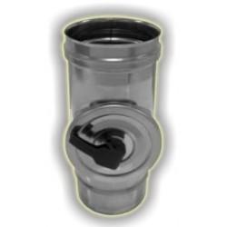 Modulo di ispezione con tappo tondo monoparete acciaio inox 316 sp 5/10