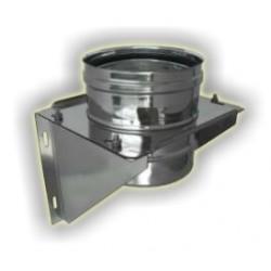 Supporto a muro monoparete acciaio inox 316 sp 5/10