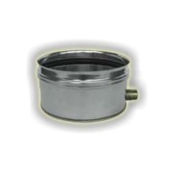 Scarico condensa cieco con scarico sul fianco monoparete acciaio inox 316 sp 5/10